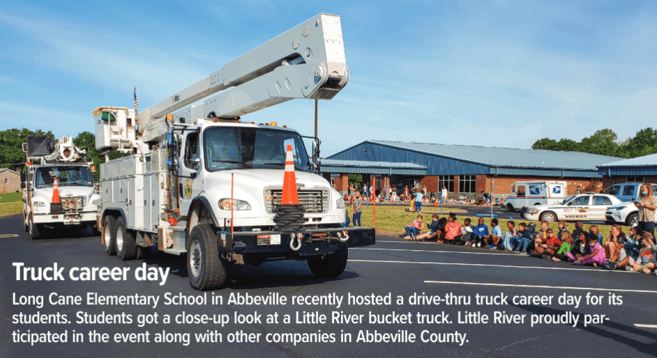 Truck career day event is pictured