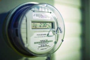 Electric meter pictured