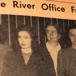 "Vintage newspaper clipping entitled: ""Little River Office Force"""