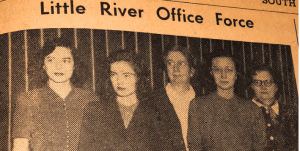 Vintage Little River newspaper clipping